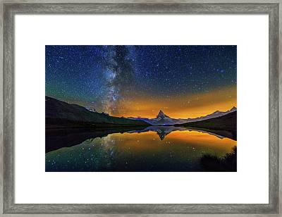 Matterhorn By Night Framed Print