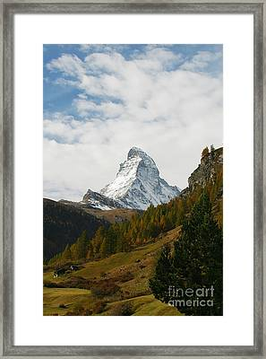 Matterhorn In The Fall Framed Print