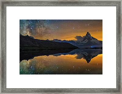 Matterhorn Milky Way Reflection Framed Print