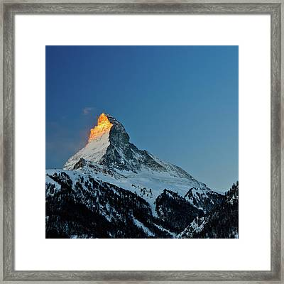 Matterhorn Switzerland Sunrise Framed Print by Maria Swärd