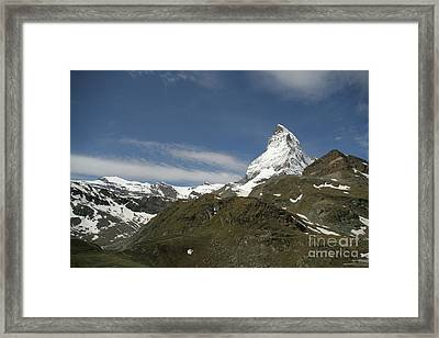 Framed Print featuring the photograph Matterhorn With Alpine Landscape by Christine Amstutz