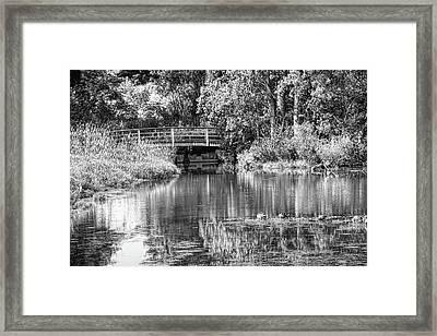 Matthaei Botanical Gardens Black And White Framed Print