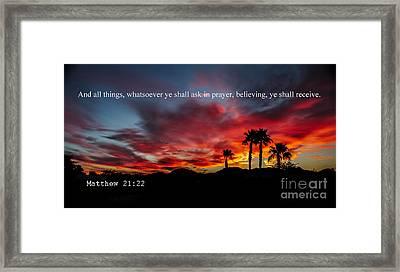 Matthew 21 Framed Print by Robert Bales