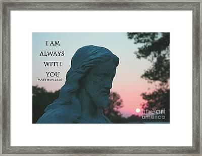Matthew 28/20 - Jesus Statue Framed Print