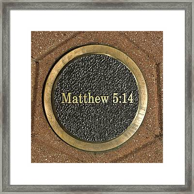 Framed Print featuring the photograph Matthew Bronze by Michael Flood