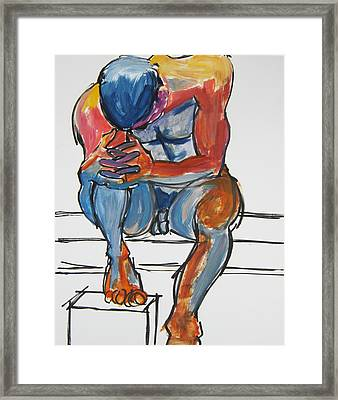Matthew Deep In Thought Framed Print
