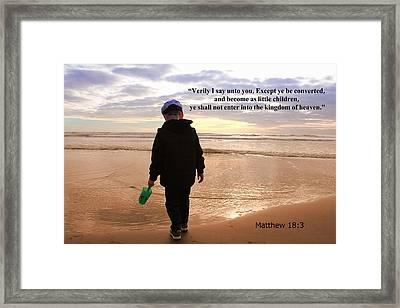 Framed Print featuring the photograph Matthew Eighteen Three by Aaron Berg