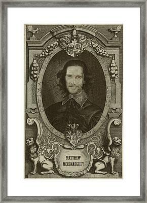 Matthew Mcconaughey   Framed Print by Serge Averbukh