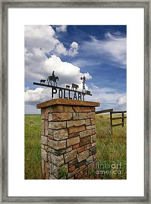 Pollart, Entrance Drive Way, Angle Iron Art , Rock And Mortar Sculpture Framed Print by Thomas Pollart