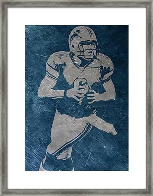 Matthew Stafford Detroit Lions Framed Print by Joe Hamilton
