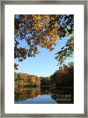 Matthiessen Lake In Autumn Framed Print