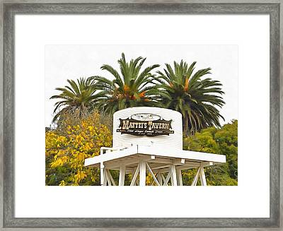 Framed Print featuring the photograph Matties Tavern Los Olivos California by Floyd Snyder
