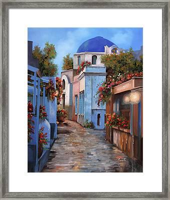 Mattina In Grecia Framed Print