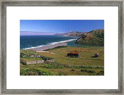 Mattole River At Mattole Beach Framed Print