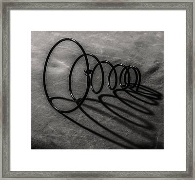 Mattress Spring And Shadow Framed Print by Andrew Wohl