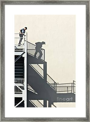 Mature Male Contemplating Escape Framed Print by Inga Spence