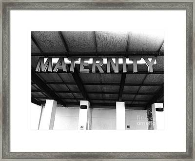 Maternity  Ward Framed Print by WaLdEmAr BoRrErO