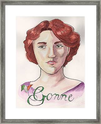 Maud Gonne Framed Print by Whitney Morton