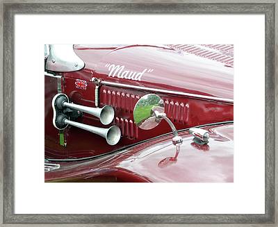Maud - Vintage Car Framed Print by Philip Openshaw