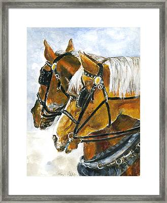 Maude And Ben Framed Print by Mary Armstrong