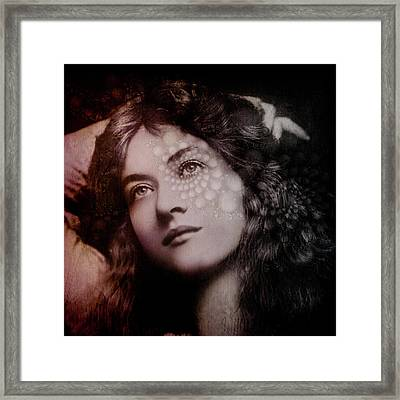 Framed Print featuring the digital art Maude by Kathleen Holley