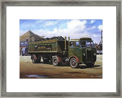 Maudslay Coal Lorry. Framed Print