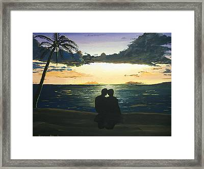 Maui Beach Sunset Framed Print by Norm Starks