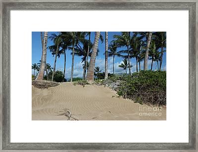 Framed Print featuring the photograph Maui Beach by Wilko Van de Kamp
