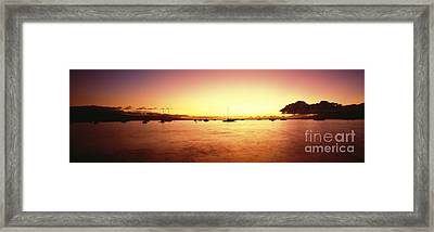 Maui Boat Harbor Silhouette Framed Print by Carl Shaneff - Printscapes