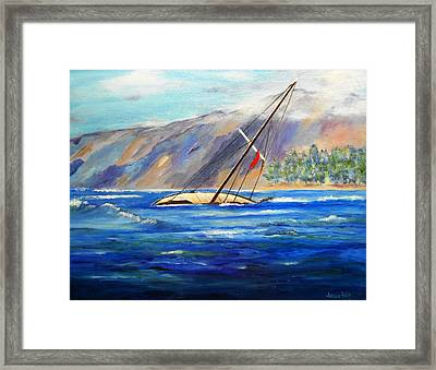 Maui Boat Framed Print by Jamie Frier