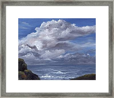 Framed Print featuring the painting Maui Clouds by Darice Machel McGuire