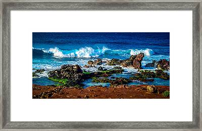 Maui Hawaii Breaking Surf  Framed Print
