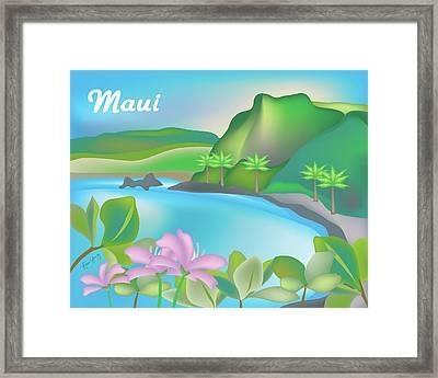Maui Hawaii Horizontal Scene Framed Print