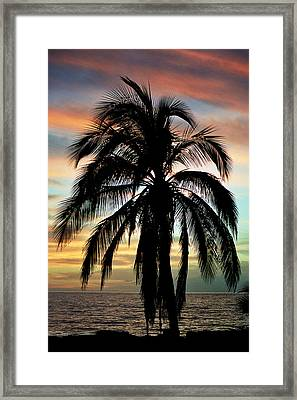 Maui Hawaii Sunset Palm Framed Print by Pierre Leclerc Photography