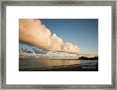 Maui Hawaii Sunset Stunning Clouds Framed Print by Denis Dore