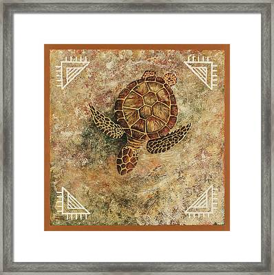 Framed Print featuring the painting Maui Honu by Darice Machel McGuire