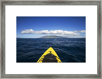 Maui, Kayaker Framed Print by Ron Dahlquist - Printscapes
