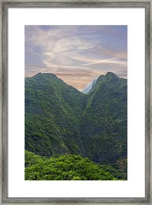 Maui Mountain Majesty Framed Print by Bill Tiepelman
