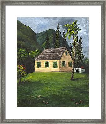 Framed Print featuring the painting Maui Nature Center by Darice Machel McGuire