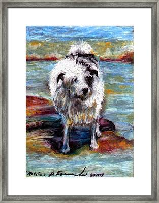 Maui On The Beach Framed Print by Melissa J Szymanski