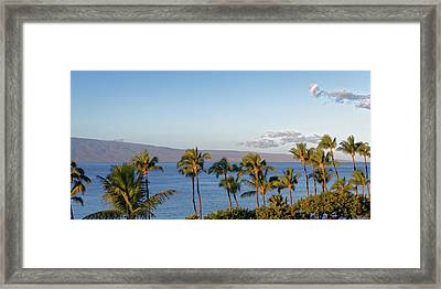 Framed Print featuring the photograph Maui Palms by Lars Lentz
