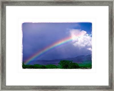 Framed Print featuring the photograph Maui Rainbow by Marie Hicks