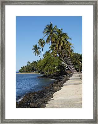 Maui Street Framed Print