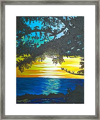 Maui Sunset Framed Print by Donna Blossom