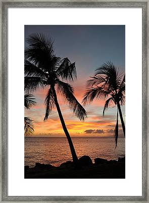 Maui Sunset Palms Framed Print by Kelly Wade