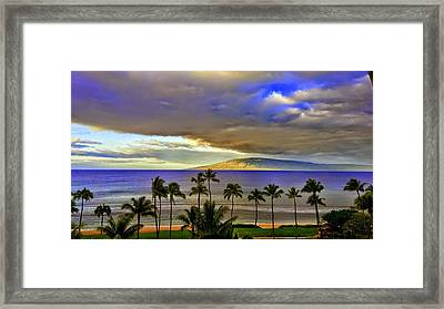 Maui Sunset At Hyatt Residence Club Framed Print