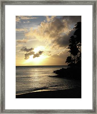 Framed Print featuring the photograph Maui Sunset Vertical by Rau Imaging
