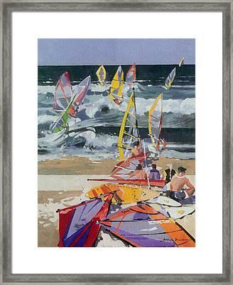 Maui Surf 2 Framed Print
