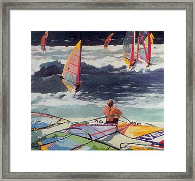 Maui Surf Framed Print