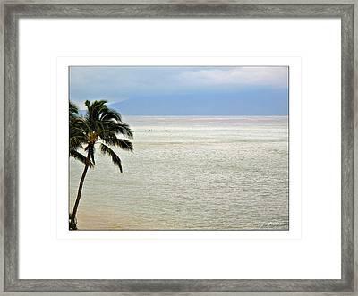 Maui Tropics  Framed Print by Joan  Minchak